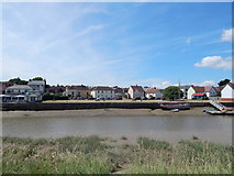 TM0321 : East Donyland (Rowhedge) village green from Wivenhoe by Hamish Griffin