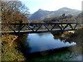 SH5860 : North side of the Afon y Bala railway bridge, Llanberis by Jaggery