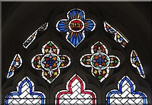 TL9925 : St. Martin's Church, West Stockwell Street, CO1 - east window, chancel (detail) by Mike Quinn