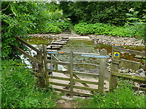 SD7186 : Stepping stones and bridleway crossing the River Dee by Andrew Whale
