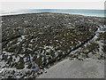 SN5781 : Rock Strata on Beach, Aberystwyth, Ceredigion by Christine Matthews