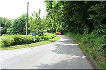 NX6548 : Road to Borgue at Nun Mill Bay by Billy McCrorie