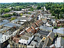SP0202 : South-west from St John's Church tower roof, Cirencester (1) by Brian Robert Marshall
