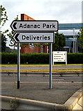SU3715 : Adanac Park sign by Adrian Cable
