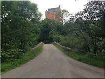 NM6947 : Minor road and Kinlochaline Castle by Steven Brown