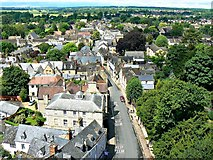 SP0202 : North-west from St John's Church tower roof, Cirencester by Brian Robert Marshall
