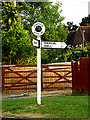 SU3715 : Roadsign on Yew Tree Lane by Adrian Cable