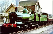 TQ4023 : Steam locomotive at Sheffield Park station by Flying Stag