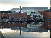 SP0686 : Worcester & Birmingham Canal - Gas Street Basin at dusk by Chris Allen