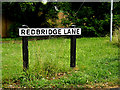 SU3816 : Redbridge Lane sign by Adrian Cable