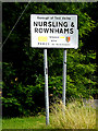 SU3816 : Nursling & Rownhams Village Name sign by Adrian Cable