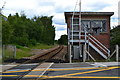 SE3105 : Signal box and track at Dodworth by David Martin