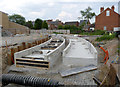 SK5438 : Track construction past the Djanogly centre by Alan Murray-Rust