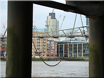 TQ3180 : View of Tower 42 from the underside of the South Bank promenade by Robert Lamb