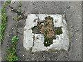 TG1527 : Concrete socket beside Church Lane by Evelyn Simak
