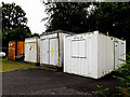 TQ1929 : Containers at Horsham Rugby Union Football Club by Adrian Cable
