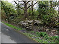 SN9804 : Wooden stile, Llwydcoed by Jaggery