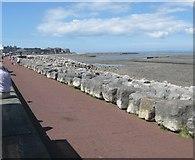 SD4464 : Looking west along Morecambe promenade by James Denham
