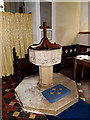 TM3961 : Font of St.Mary Magdalene Church by Adrian Cable