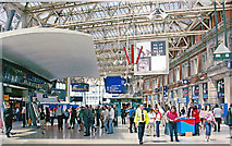 TQ3179 : Waterloo Station concourse, 2005 by Ben Brooksbank
