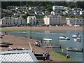 SX9372 : Sign of the incoming tide, mouth of the River Teign by Robin Stott