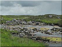 NN2655 : Looking up the River Etive by Nigel Brown