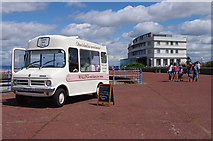 SD4264 : Ice cream van on Morecambe Promenade by Ian Taylor