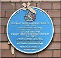 SJ9398 : Blue plaque: James Hargreaves and William Yarwood Bebbington by Gerald England