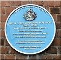 SJ9398 : Blue plaque: Harry Grantham by Gerald England