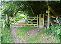 SE0024 : Stile and gate on the permissive riverside path at Cragg Lane by Humphrey Bolton