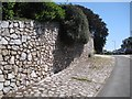 SX9373 : Retaining wall and paved vision splay, corner of Coombe Vale Road, Teignmouth by Robin Stott