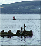 NS3174 : Anglers at Port Glasgow by Thomas Nugent