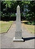 TL9925 : Obelisk, Castle Park, Colchester by Julian Osley