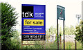 """J3978 : """"For sale"""" sign, Holywood Rugby Club (July 2014) by Albert Bridge"""