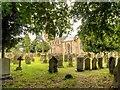 SE2280 : St Mary's Church and Churchyard, Masham by David Dixon