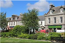 NX4355 : Gardens & North Main Street, Wigtown by Leslie Barrie