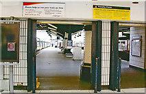 TQ3179 : Waterloo Station, barriers at Platform 3/4 by Ben Brooksbank