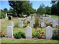 TQ4768 : R.A.F. graves in St Mary Cray Cemetery by Marathon