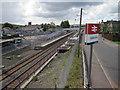 NS8267 : Caldercruix railway station, Lanarkshire by Nigel Thompson
