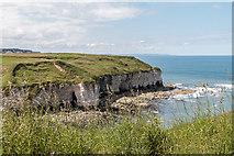 TA2372 : Cliffs and Bay, North Landing from Headland Way, Yorkshire by Christine Matthews