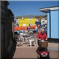 SX9372 : By the Blue Hut, back beach, Teignmouth by Robin Stott