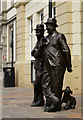 SD2878 : Laurel & Hardy, Ulverston by Peter Trimming
