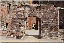 NY0265 : Caerlaverock Castle Courtyard by Billy McCrorie