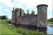 NY0265 : Caerlaverock Castle & Moat by Billy McCrorie