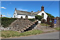 NY1068 : Steps at Ruthwell Church by Billy McCrorie