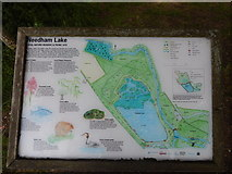 TM0954 : Needham Lake sign by Hamish Griffin