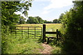 SU7468 : Stile for footpath south of Shinfield Grange by Roger Templeman