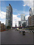 TQ3780 : Looking towards West India Quay DLR station by John Lord