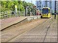 SJ8097 : Metrolink Tram at Broadway by David Dixon
