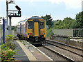 NZ5129 : A class 156 train leaving Seaton Carew for Newcastle by John Lucas